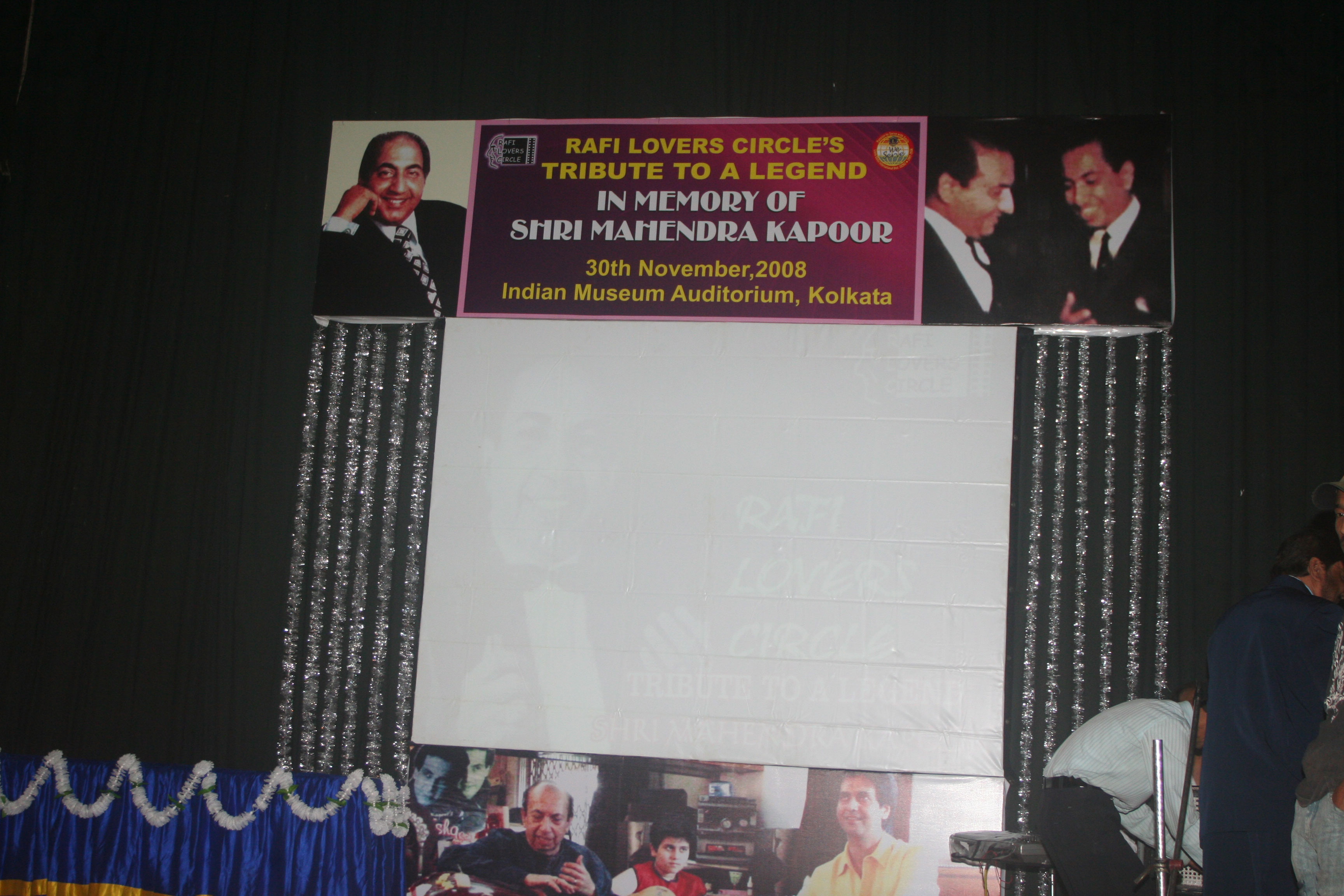 Coverage of Tribute to A Legend program on 30th Nov 2008
