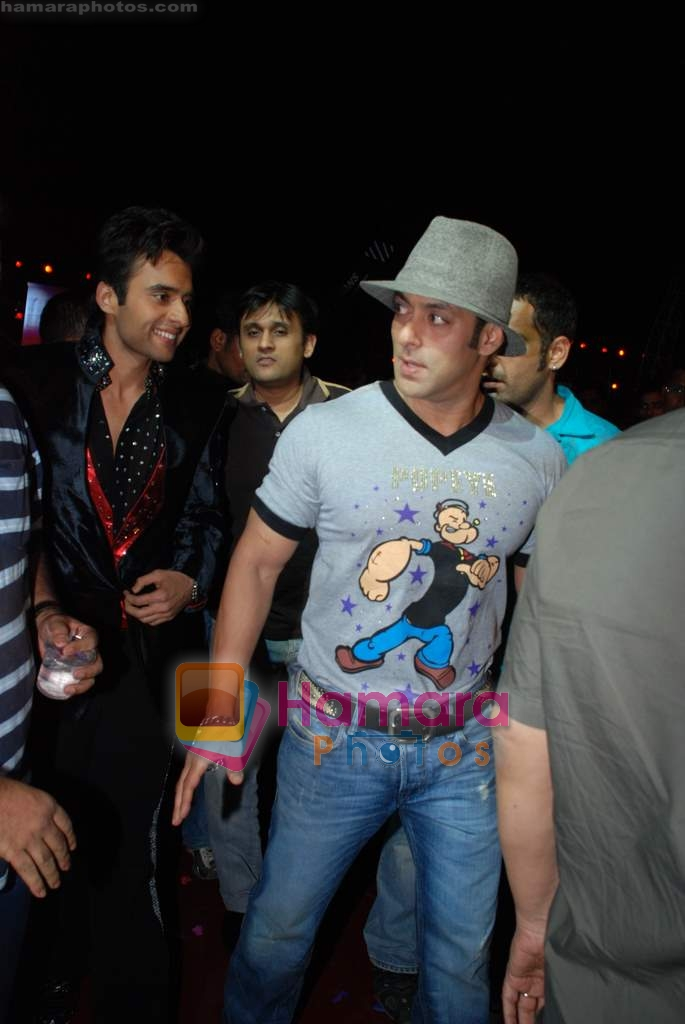 Salman Khan at the launch of Vashu Bhagnani's son - Jackie in Film City on 24th December 2008