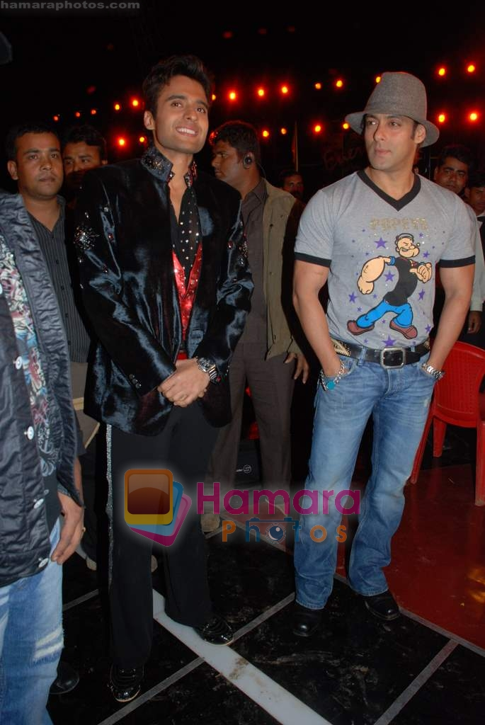 Salman Khan, Jackie Bhagnani at the launch of Vashu Bhagnani's son - Jackie in Film City on 24th December 2008
