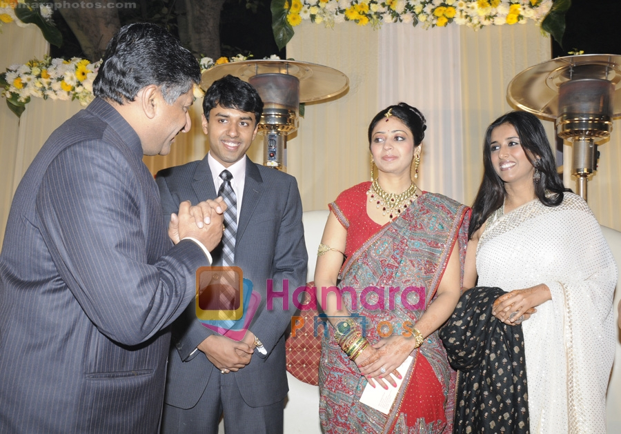 Ravi Shankar Prasad at the Wedding reception of Abhishek Agrawal and Sugandh Goel at the Airport Authority club on 24th Dec 2008