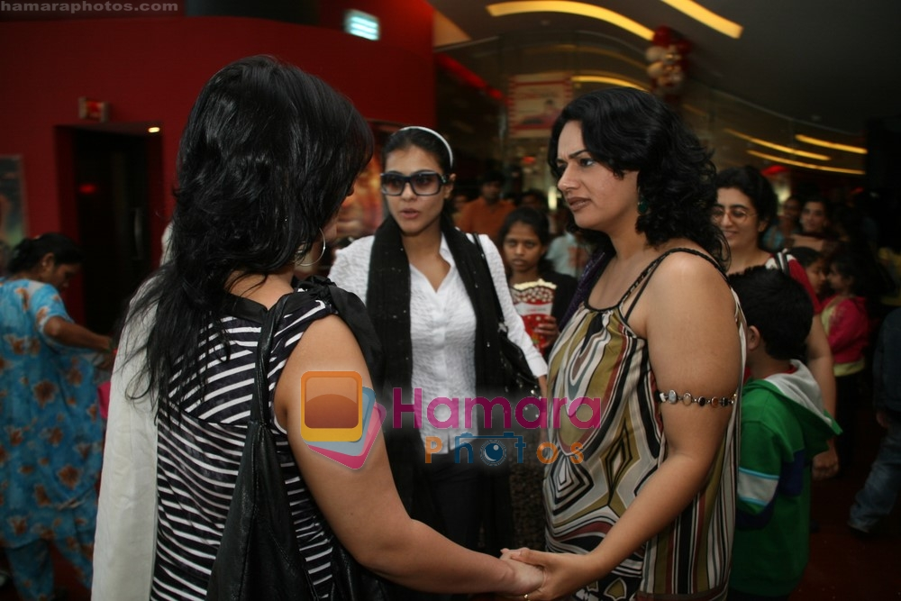 Kajol watch Jumbo with their kids in Cinemax on 24th December 2008
