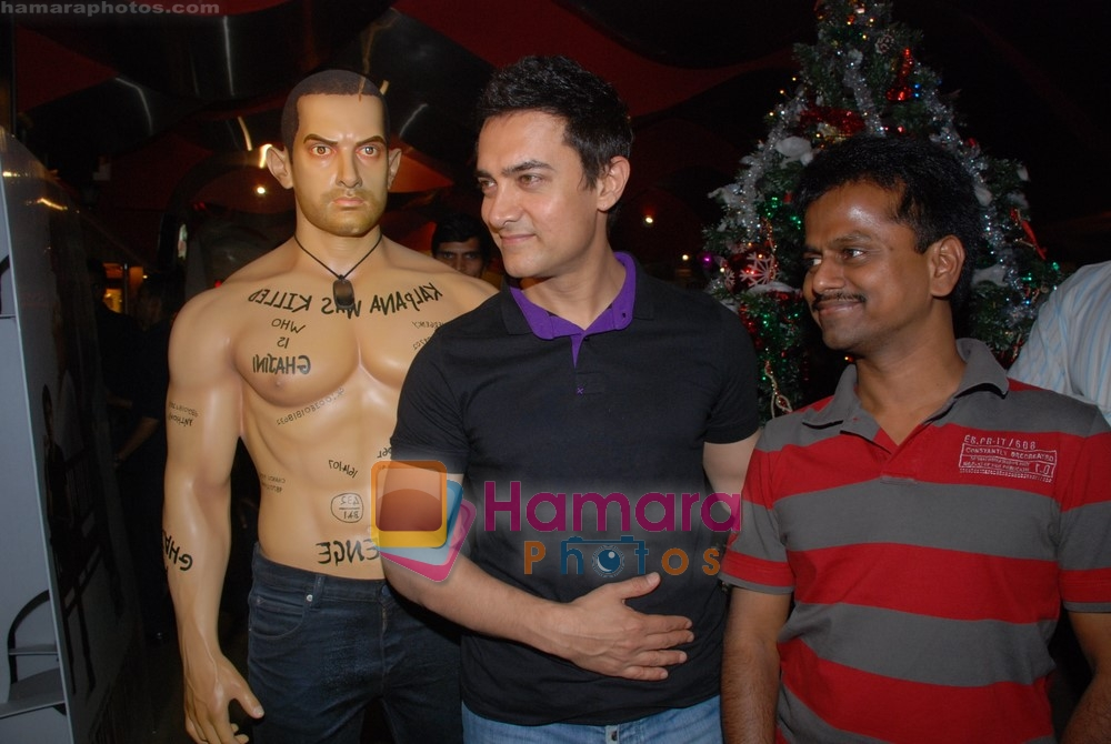 Aamir Khan at exclusive screening of Ghajini in PVR on 24th December 2008
