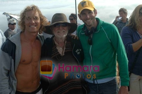 Matthew McConaughey, Willie Nelson in still from the movie Surfer, Dude