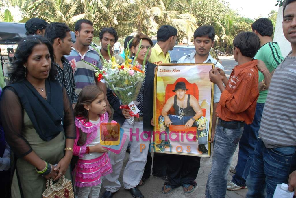 Salman Khan's bday bash celebrated by fans  on 27thDecember 2008