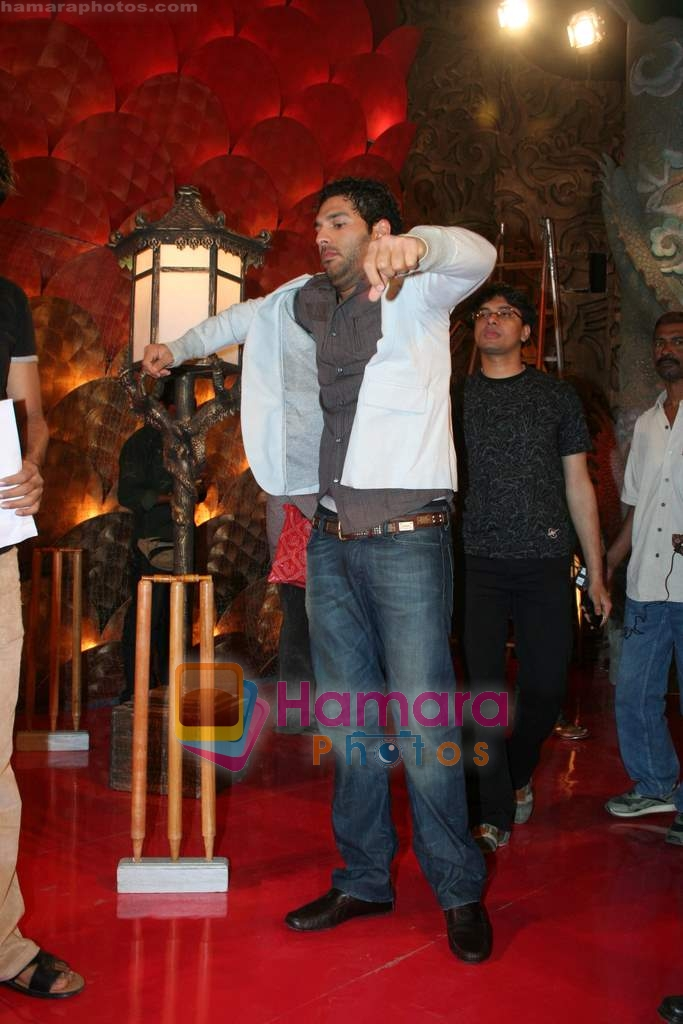 Yuvraj Singh at a promotional event for sony's new comedy circus 'Chinchpokali to China_ in Mohan Studios on 28th December 2008