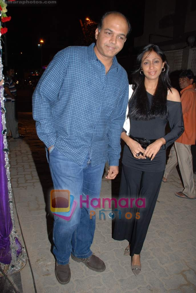 Ashutosh Gowariker with wife sunita at Victory film music launch in Vie Lounge on 28th December 2008