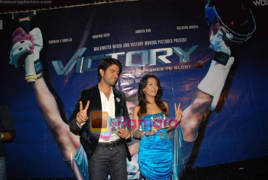 Amrita Rao, Harman Baweja at Victory film music launch in Vie Lounge on 28th December 2008