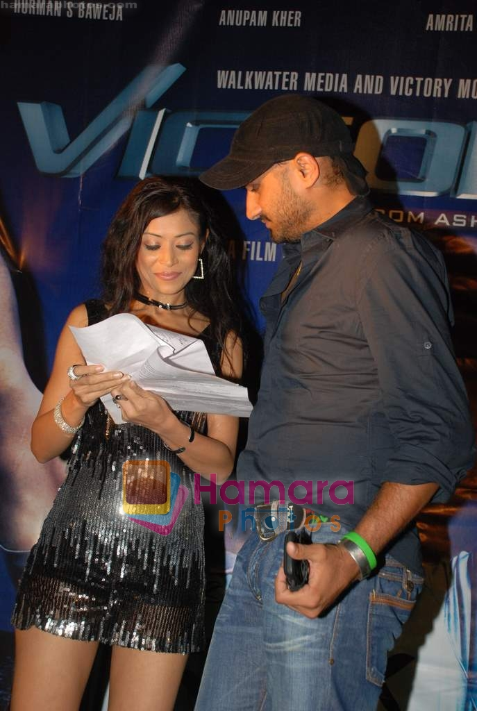 Harbhajan Singh at Victory film music launch in Vie Lounge on 28th December 2008