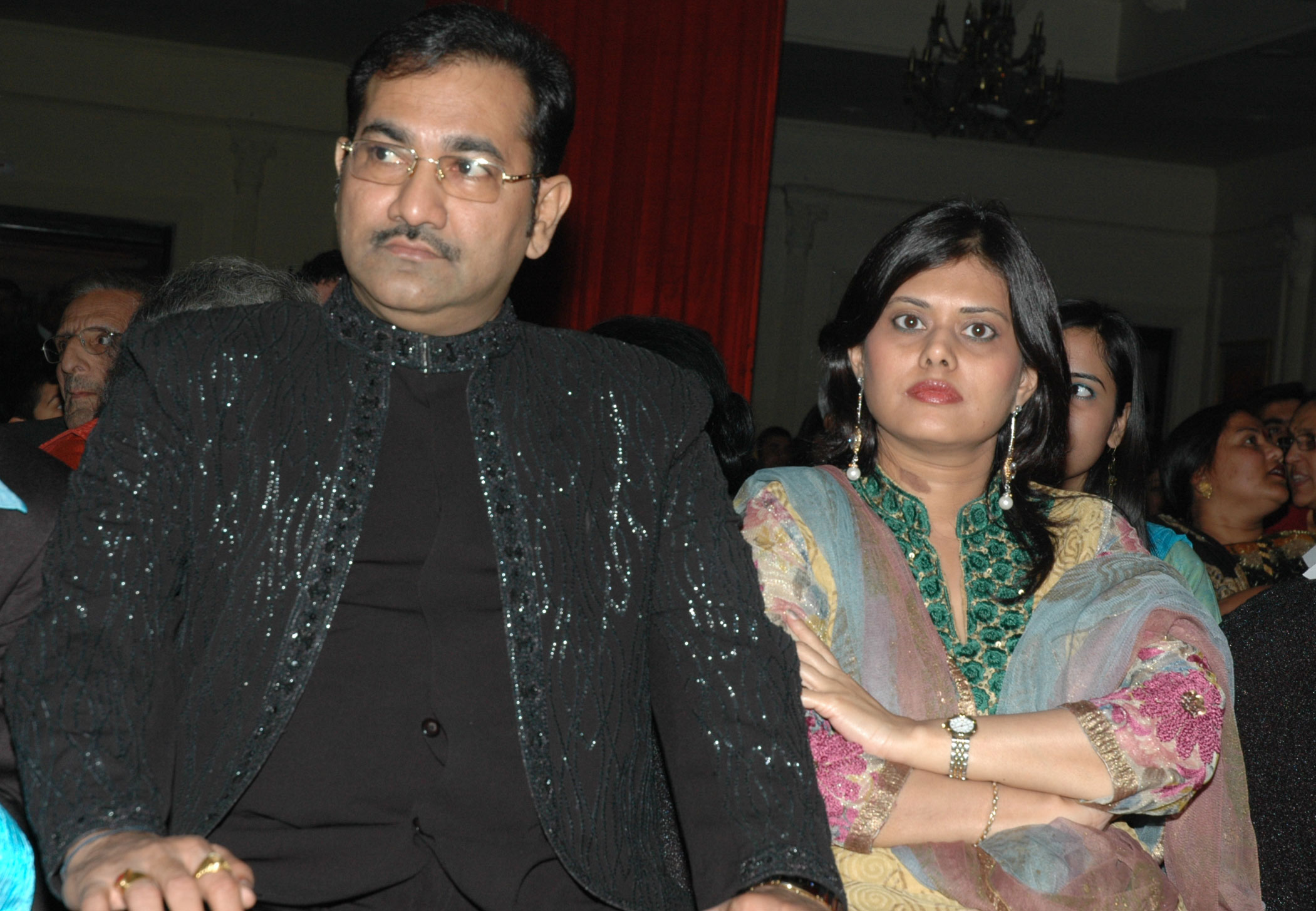 Sudhesh Bhosle, Hema Bhosle at the launch of film Jalebi Culture on 28th Dec 2008