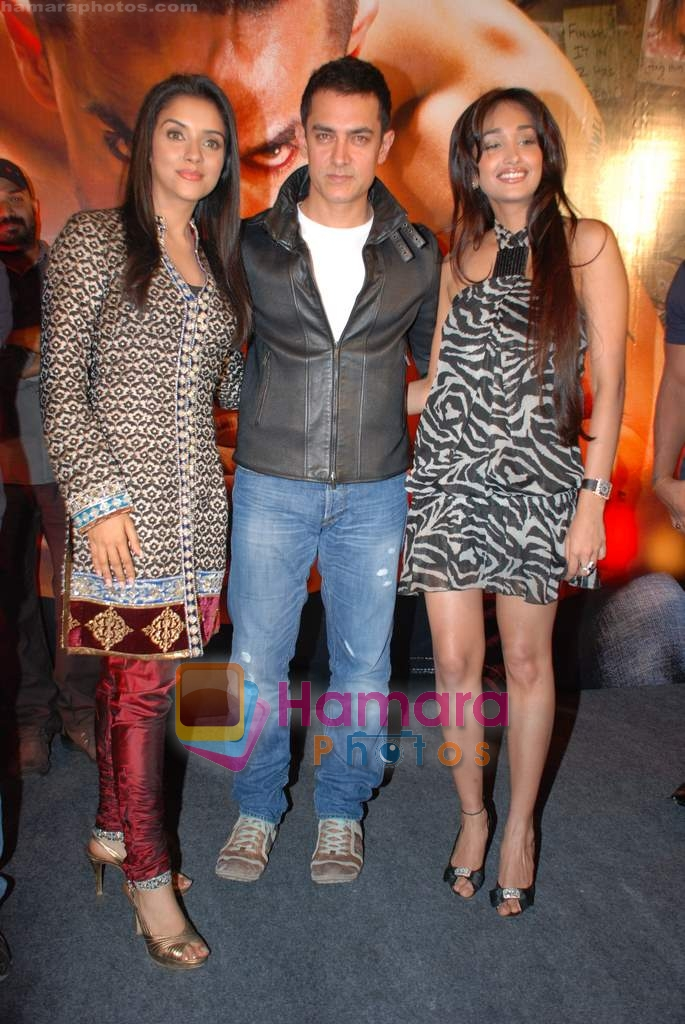 Asin Thottumkal, Aamir Khan, Jiah Khan at Ghajini success bash in Taj land's End on 30th December 2008
