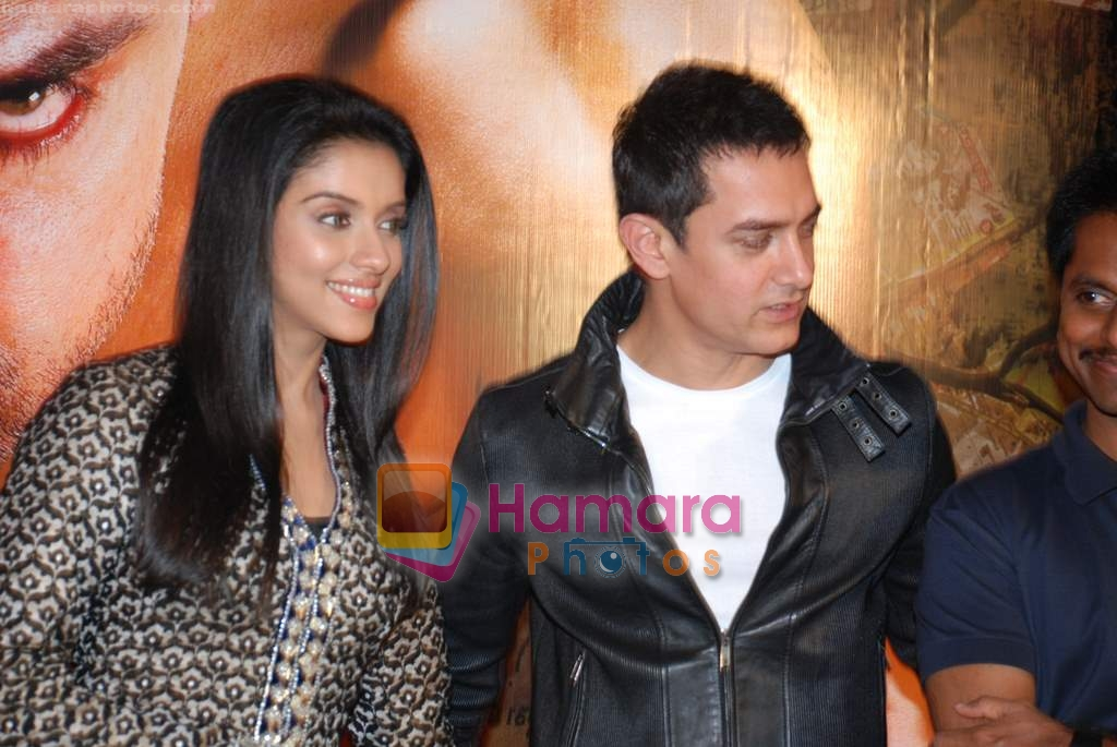 Asin Thottumkal, Aamir Khan at Ghajini success bash in Taj land's End on 30th December 2008