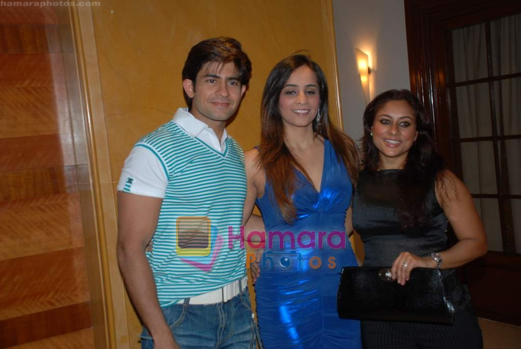 Hussain Kuwajerwala, Tina, Sai at ITA success bash in Sun N Sand on 7th Jan 2009