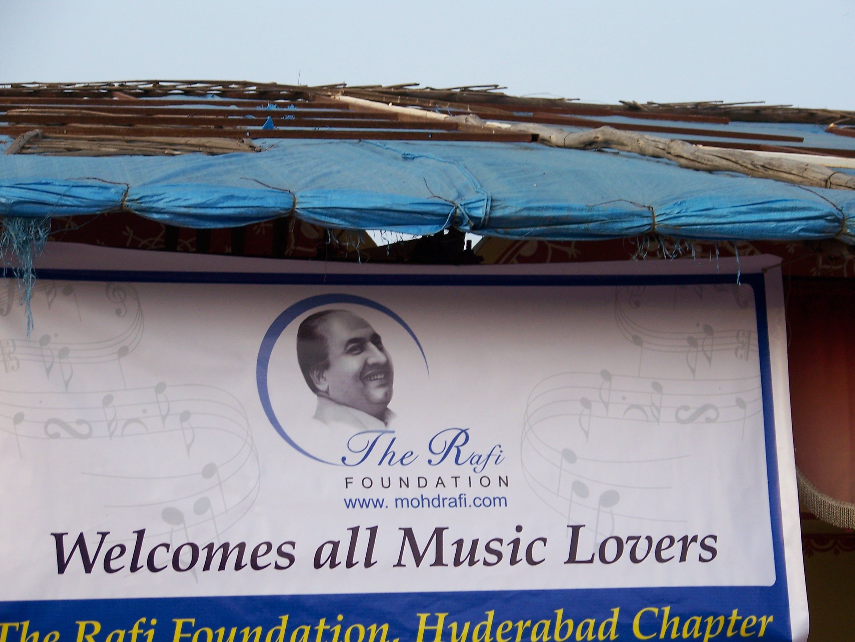 Banner at PADHARO SE musical show on 25th December 2008