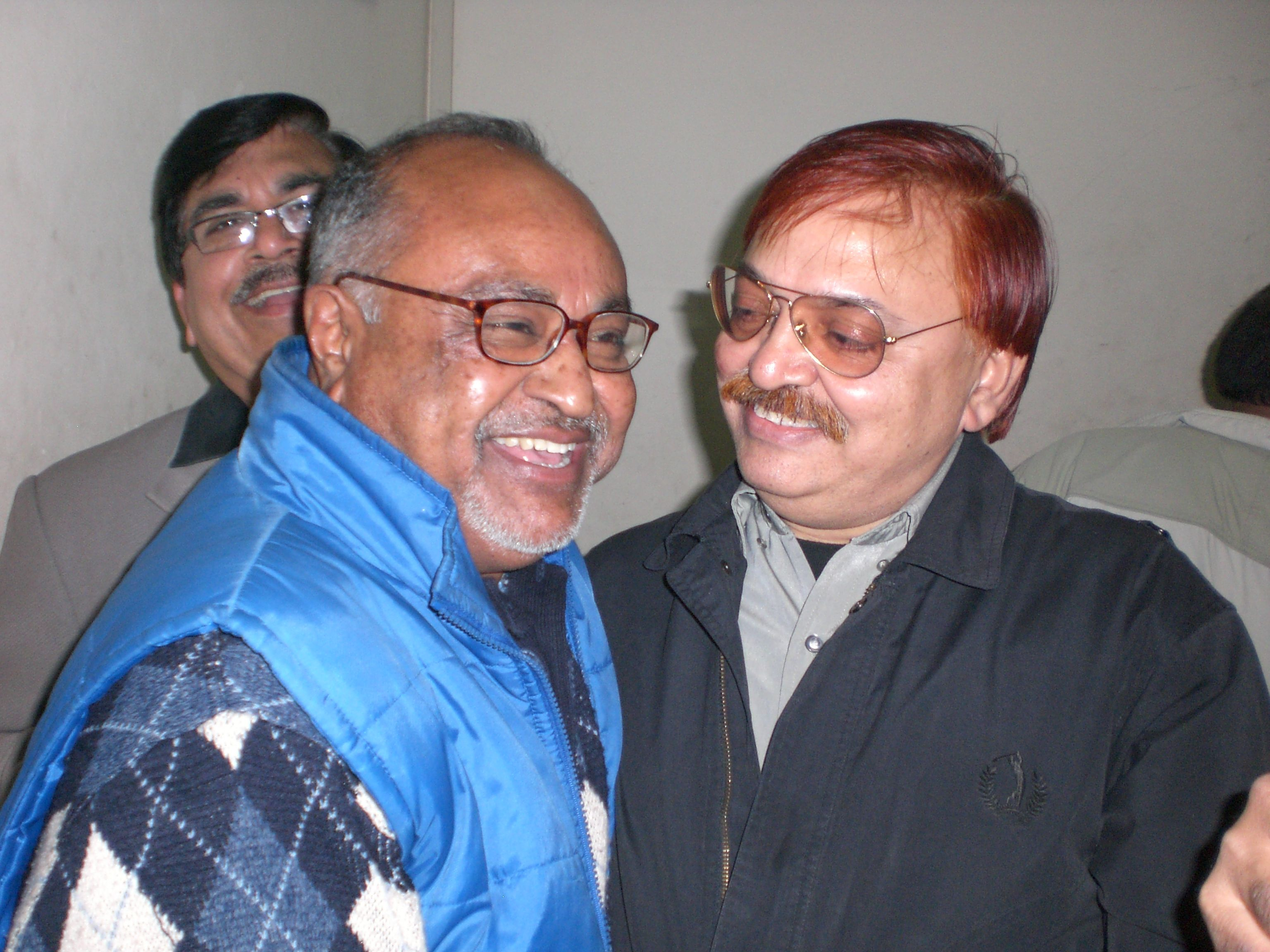 Members of Rafi Foundation Memorial Society in Delhi celebrating 84th birthday of the legend on 24th December 2008