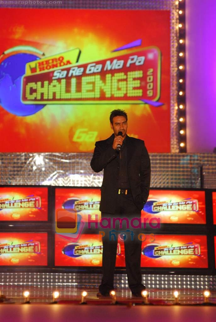 Ajay Devgan at the finals of SaReGaMaPa Challenge in Gateway of India on 24th Jan 2009