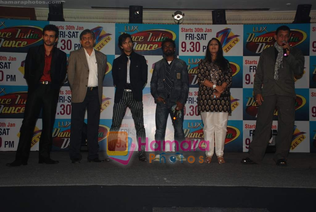 Mithun Chakraborty, Jay Bhanushali at the launch of Dance India Dance Show on Zee Tv in Leela Hotel on 29th Jan 2009