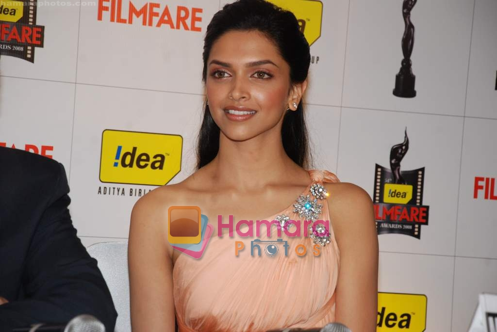 Deepika Padukone at a Press Conference to announce the 54th Idea Filmfare Awards in Le Merridean on 6th Feb 2009