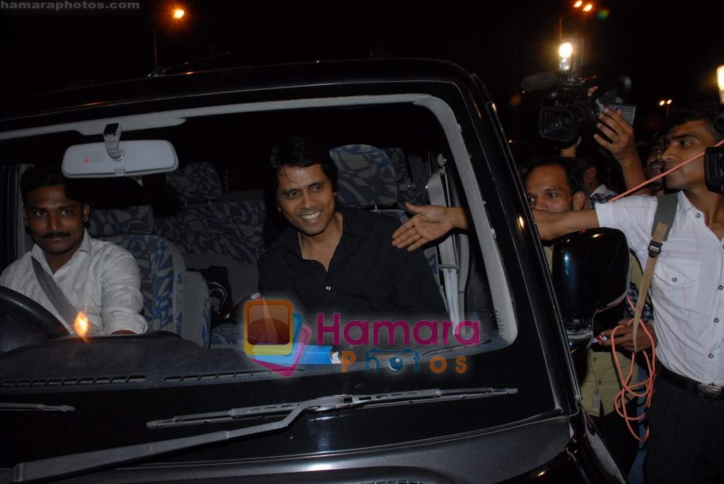 Nagesh Kukunoor at Ayesha Takia and Farhan Azmi's wedding reception on 2nd March 2009