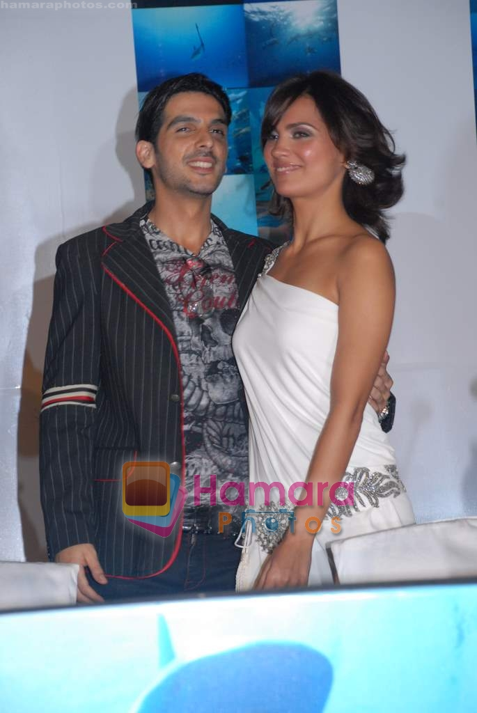Zayed Khan, Lara Dutta at the Press Conference of the film Blue in Rennaissance Hotel, Powai on 6th March 2009