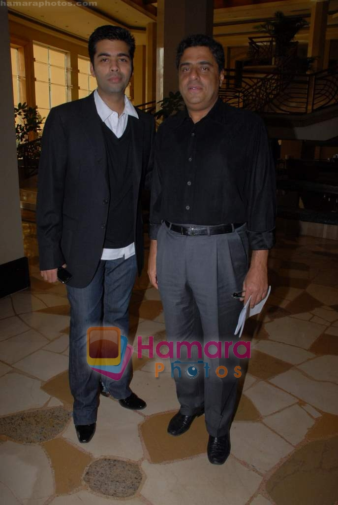 Karan Johar, Ronnie Screwvala ties up with UTV for distribution in J W Marriott on 9th March 2009
