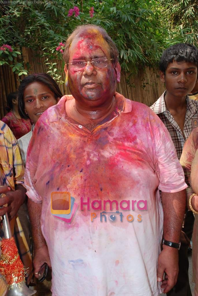Satish Kaushik at Shabana Azmi's holi bash on 11th March 2009