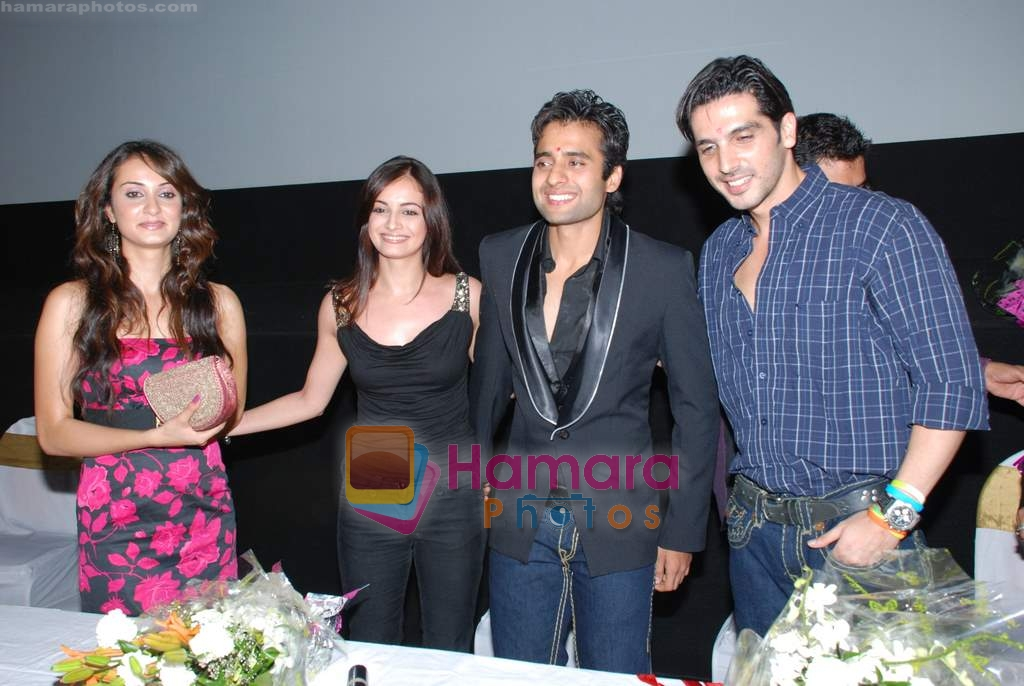 Dia Mirza, Zayed Khan, Jackie Bhagnani and Vaishali Desai at music launch of Kal Kisne Dekha in Cinemax on 12th March 2009
