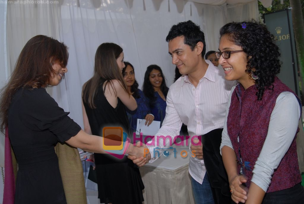 Aamir Khan, Kiran Rao at Rolex concert in Homi Bhabha auditorium on 12th March 2009