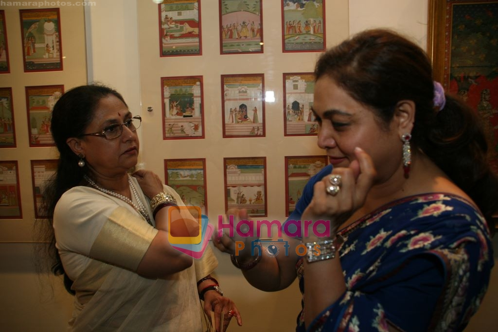 Jaya Bachchan, Tina Ambani at Harmony Exhibition in Jehangir Art Gallery, Mumbai on 13th March 2009