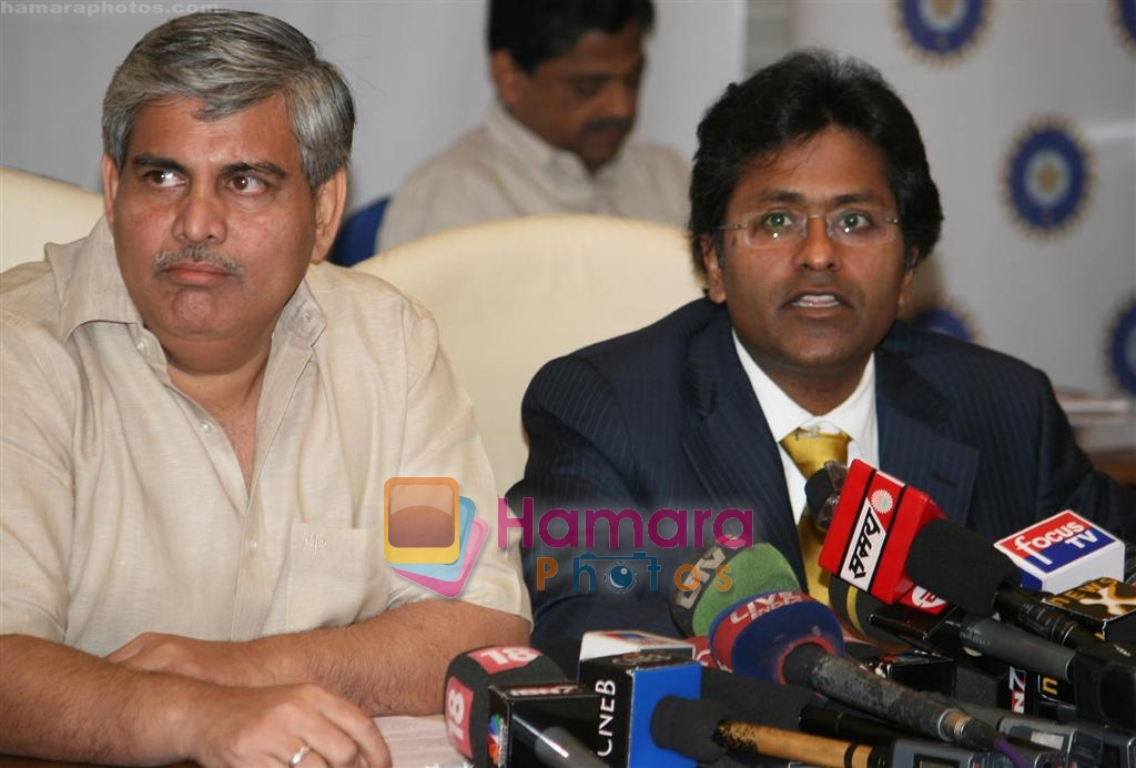 Shashank Manohar, Lalit Modi at IPL press meet on 22nd March 2009