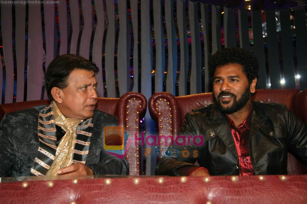 Prabhu Deva, Mithun Chakraborty on the sets of Dance India Dance in Famous Studios on 23rd March 2009