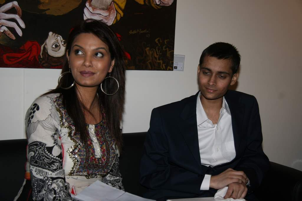 Diana Hayden at Shobojit Kaushal art event organised by CPAA in Worli on 23rd March 2009