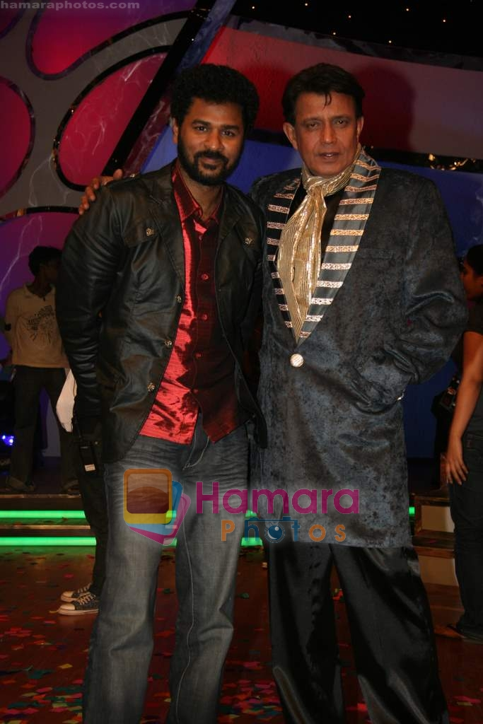 Mithun Chakraborty, Prabhu Deva on the sets of Dance India Dance in Famous Studios on 23rd March 2009