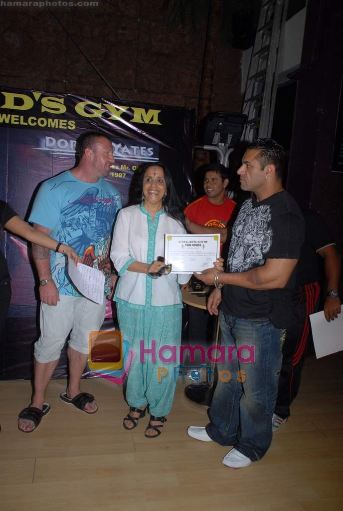 Ila Arun, Dorian Yates at Gold Gym event in Bandra on 23rd March 2009