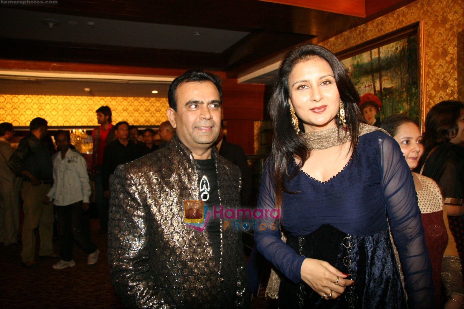 yogesh lakhani & poonam dhillon at Annual Party by Yogesh Lakhani in Royal Palms, Goregaon east on 21st March 2009