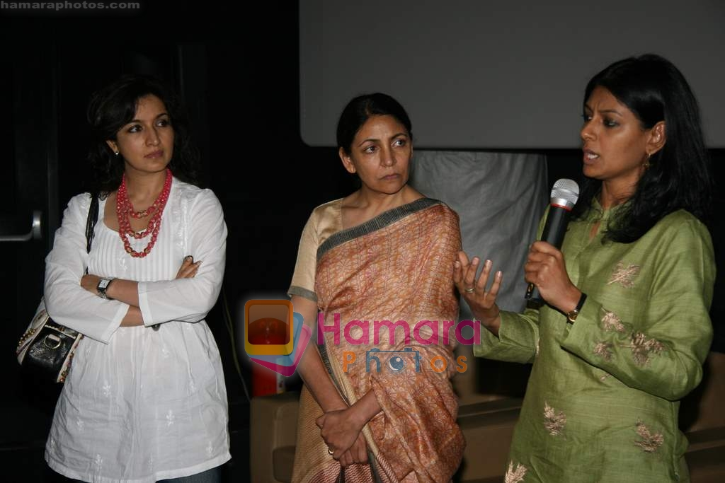 Tisca Chopra, Deepti Naval, Nandita Das at special screening of Firaaq in Fame, Malad on 24th March 2009