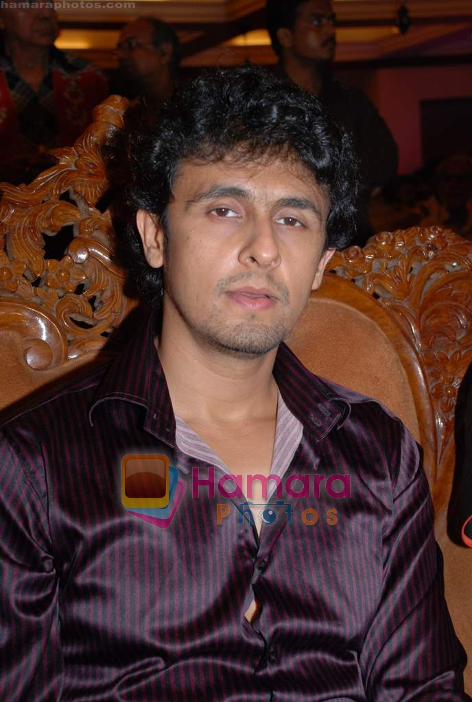 Sonu Nigam at Ravi Tripathi's album launch on 24th March 2009