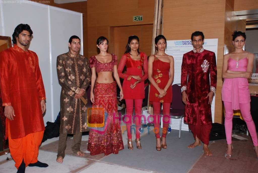 at Lakme Fashion week fittings in Drand Hyatt on 25th March 2009