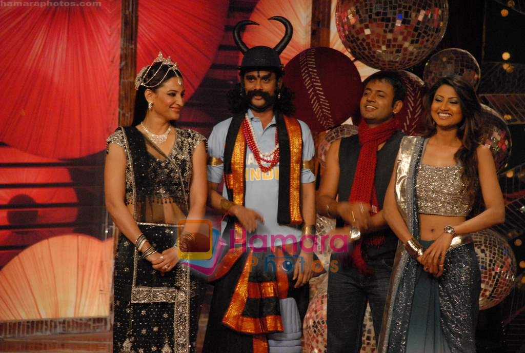 Nigaar Z Khan, Rakshada Khan on the sets of Comedy Circus in Andheri on 25th March 2009