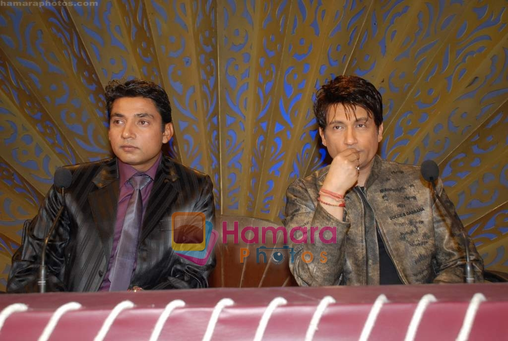 Ajay Jadeja, Shekhar Suman on the sets of Comedy Circus in Andheri on 25th March 2009