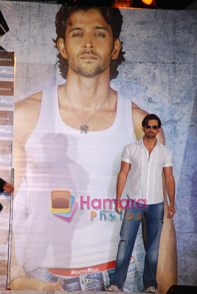 Hrithik Roshan at the launch of Macroman M Series innerwear in ITC Grand Maratha on 24th April 2009