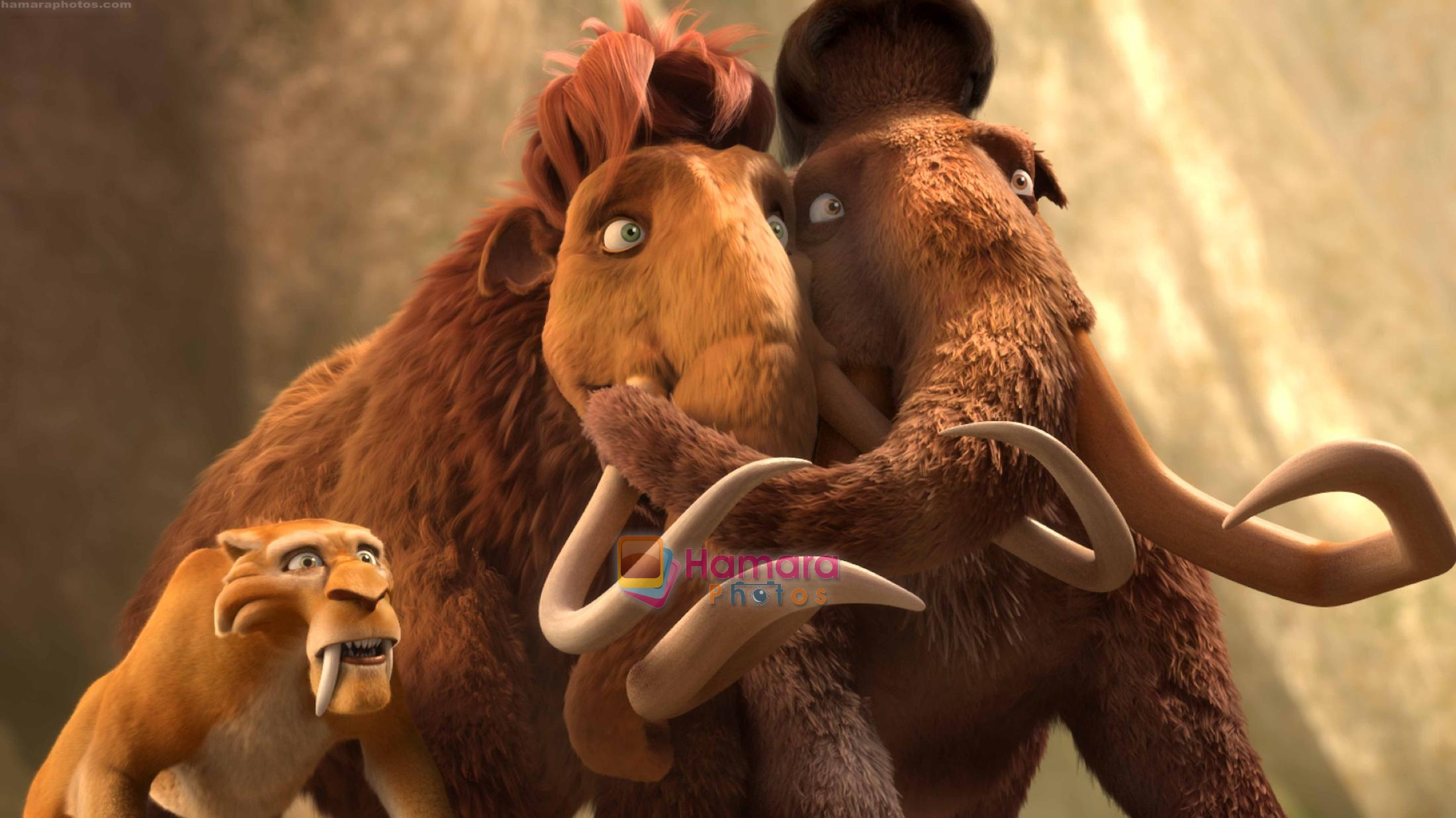 diego ellie manny in the still from movie ice age 3 most viewed