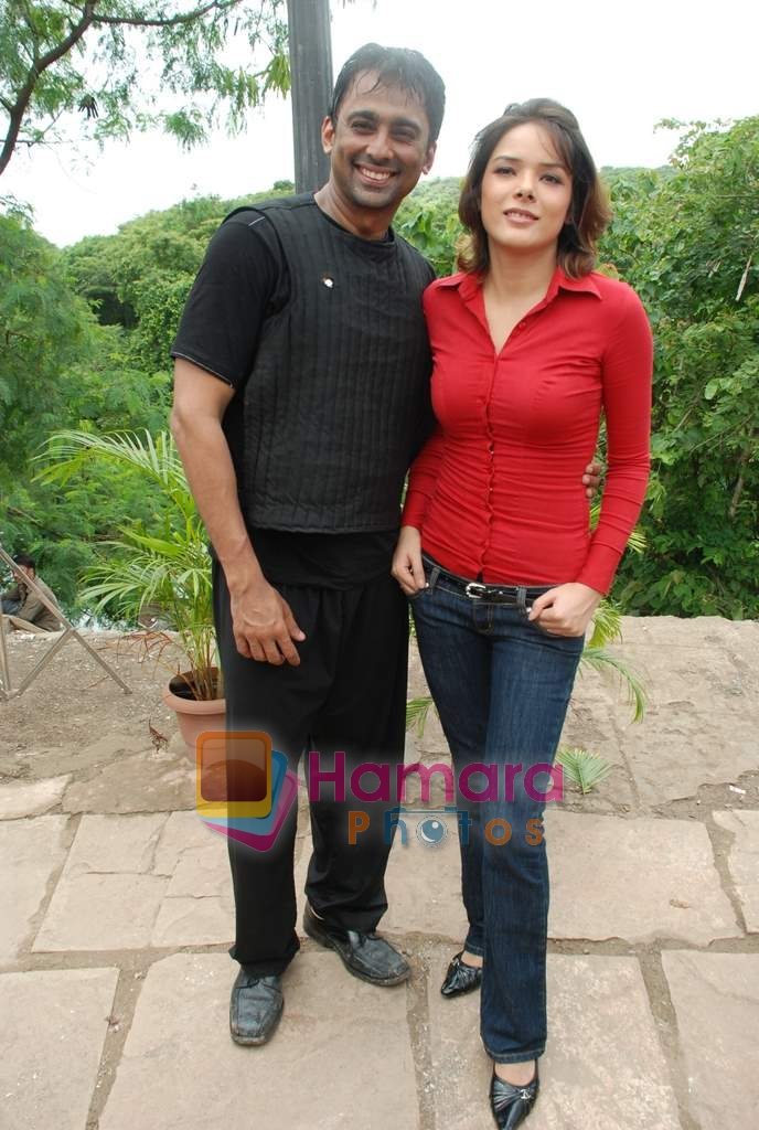 Udita Goswami, Anuj Saxena at Film Chase on location in FilmCity on 13th Aug 2009