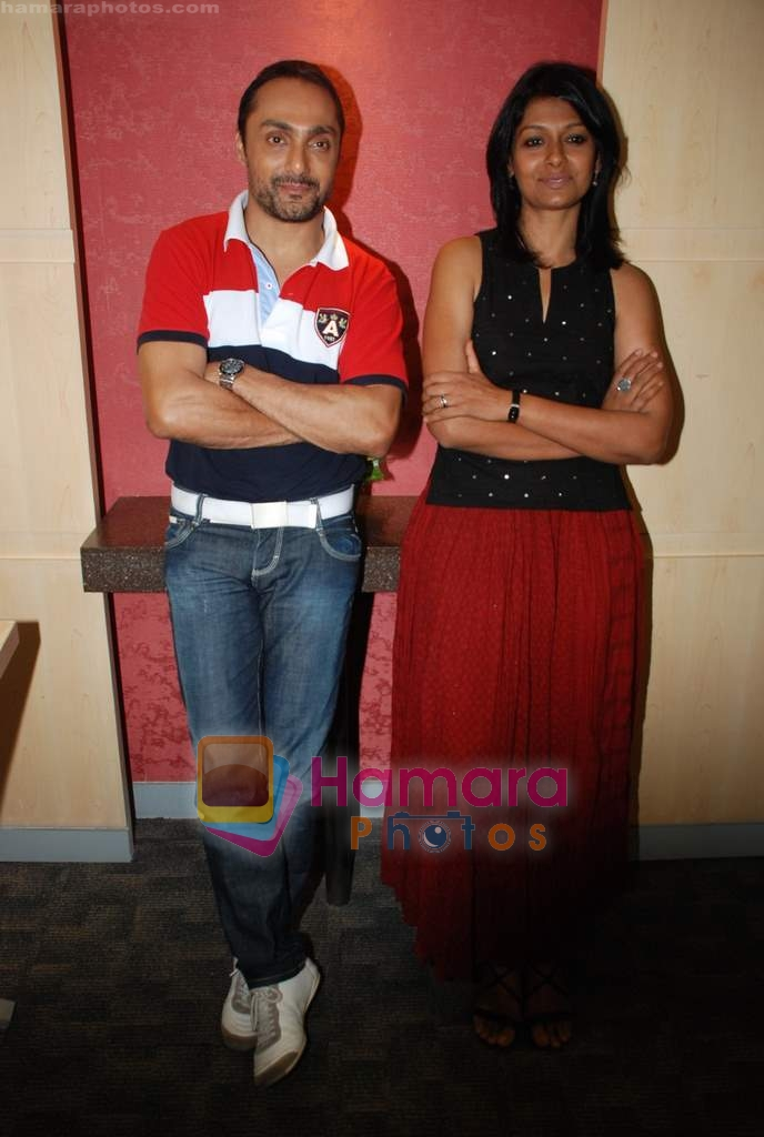Nandita Das, Rahul Bose at the press meet for film Before the rains in Andheri on 13th Aug 2009