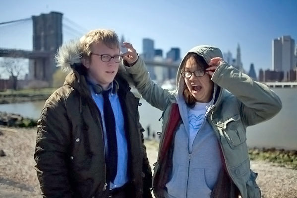 Nicholas Jasenovec, Charlyne Yi in still from the movie Paper Heart
