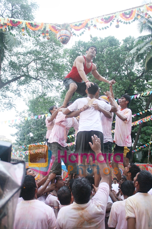 Eijaz Khan at Janmashthami celebrations on television, jai kanhaiyalal ki Event on 14th Aug 2009