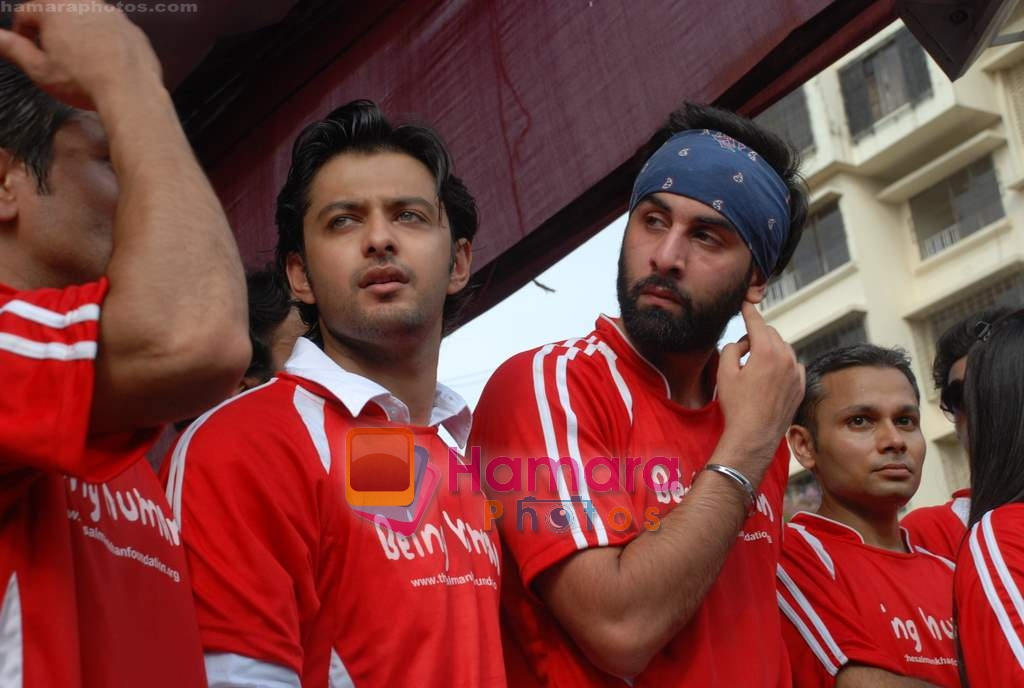 Vatsal Seth, Ranbir Kapoor at Being Human soccer match in Bandra on 15th Aug 2009
