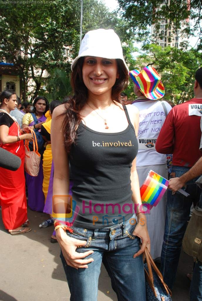 Teejay Sidhu at Gay Parade in August Kranti Maidan on 16th Aug 2009