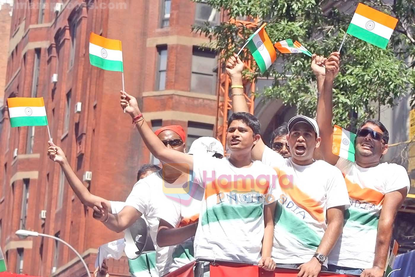 Fans at India Day Parade and Festival in New York on August 16, 2009 in Manhattan, New York