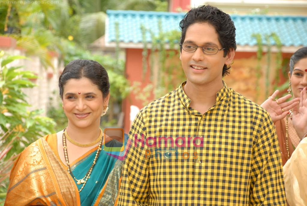 Supriya with Rajesh in the Serial Basera on NDTV Imagine