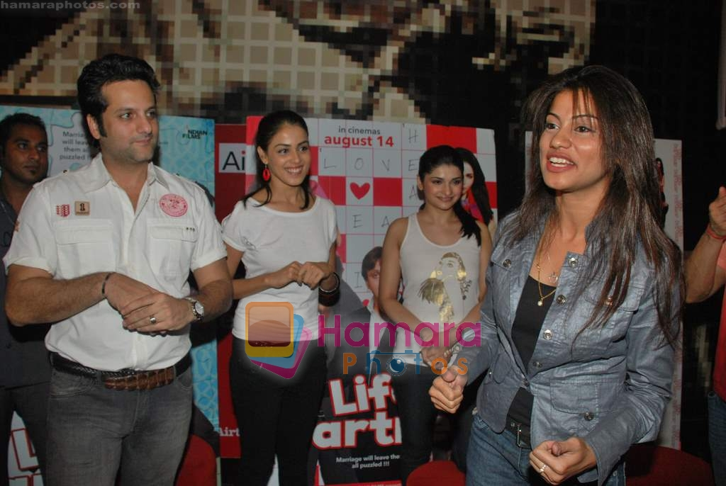 Prachi Desai, Genelia D Souza, Fardeen Khan at the Special screening of Life Partner in PVR on 17th Aug 2009